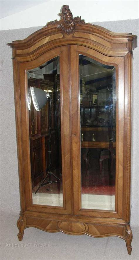 antique french armoire uk french louis xv style walnut 2 mirrored armoire antiques