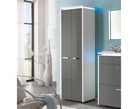 luce 2 door tall modern high gloss cabinet with optional