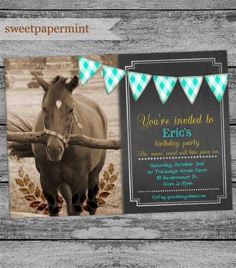 printable birthday cards with horses 48 best horse or equestrian or pony party printable decor