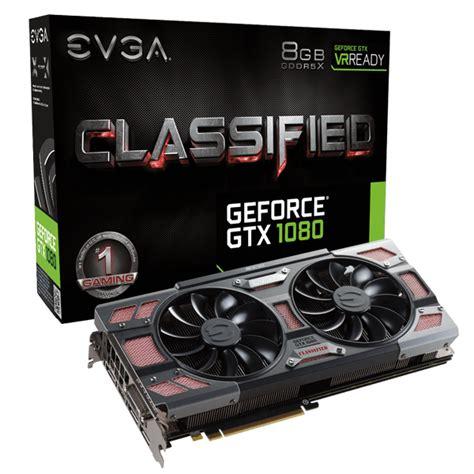 Evga Geforce Gtx 1080 Ftw2 Gaming evga products evga geforce gtx 1080 classified gaming 08g p4 6386 kr 8gb gddr5x acx 3 0