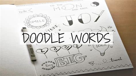 sign into doodle how to turn simple words into doodles doodle with me
