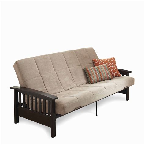 mainstays wood arm futon mainstays mission wood arm futon