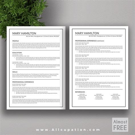 creative resume templates free word resume template word document free cv in 79 excellent