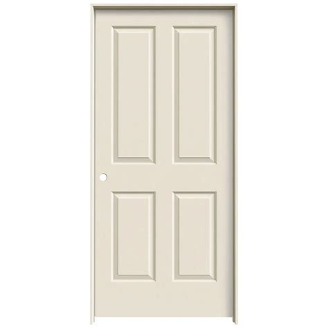 Interior Panel Doors Home Depot Jeld Wen 36 In X 80 In Molded Smooth 4 Panel Primed White Hollow Composite Single Prehung