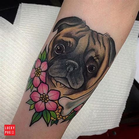 color pug tattoos on arms part 2 lucky pug tattoo gallery