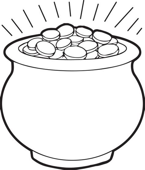 Gold Coloring Pages 25 best ideas about pot of gold on st s day st s day decorations