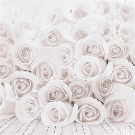 Cp Elegan White white roses 10 x10 cp backdrop computer printed scenic