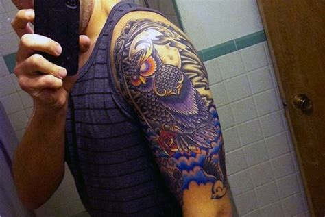 colorful sleeve tattoos for men 60 half sleeve tattoos for manly designs and