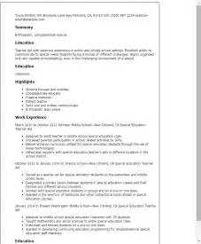 professional special education teacher aide templates to showcase your talent myperfectresume