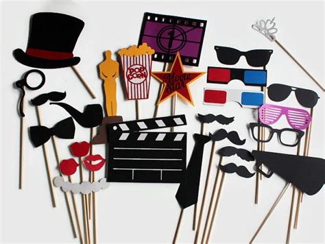 free printable movie themed photo booth props movie photobooth props 27 pc hollywood party photo booth