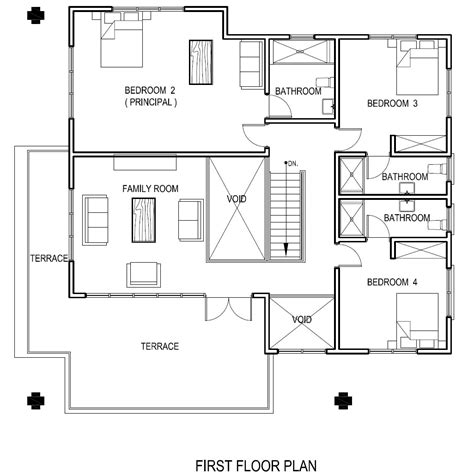 floor plan of the house ghana house plans adzo house plan