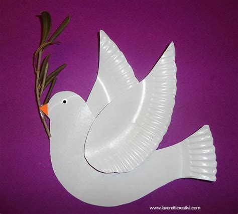 dove craft for easy dove craft from paper plates peace noah s ark