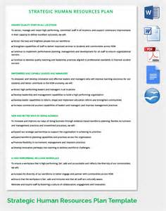 Human Resources Management Plan Template by 26 Hr Strategy Templates Free Sle Exle Format