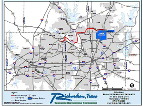 printable map dallas fort worth metroplex maps for the richardson texas area