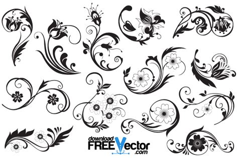pattern ornamental illustrator free floral ornaments illustrator 123freevectors
