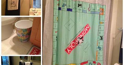 monopoly water works shower curtain jackson s monopoly themed bathroom kids bedrooms baths
