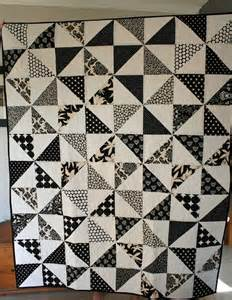 Black And White Quilt Black And White Pinwheel Quilts Triangles A