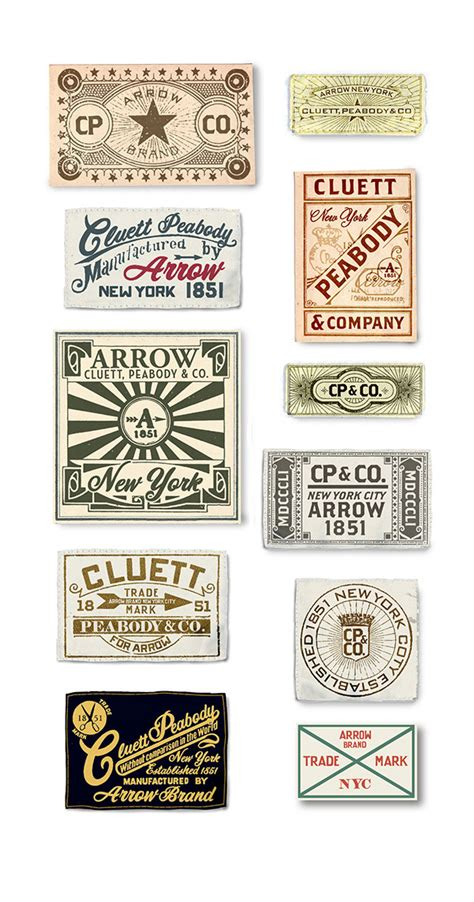 design label shirt arrow and cluett labels and packaging