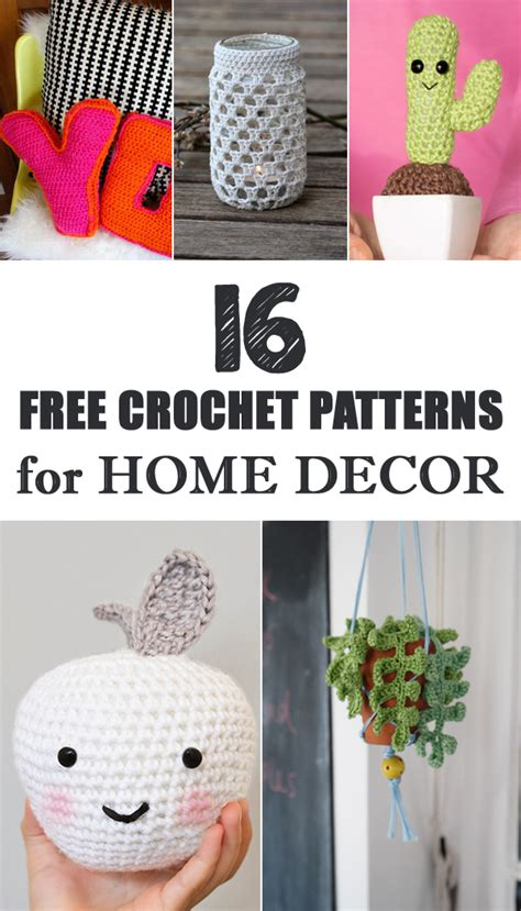 crochet for home decor 16 free crochet patterns for home decor