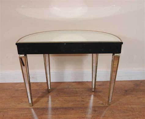 deco table deco mirrored console table demi lune tables