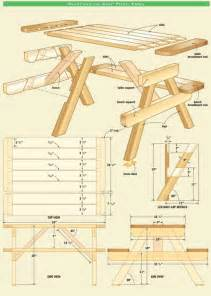 50 free diy picnic table plans for and adults