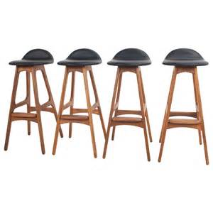 black breakfast bar stools vintage teak and black leather breakfast bar stool by erik buch danish at 1stdibs