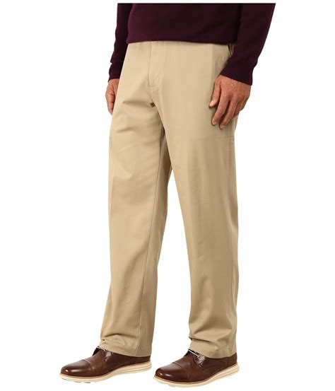 relaxed khaki dockers s comfort khaki stretch relaxed fit flat front at zappos