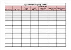 Excel Sheet Template by 40 Sign Up Sheet Sign In Sheet Templates Word Excel