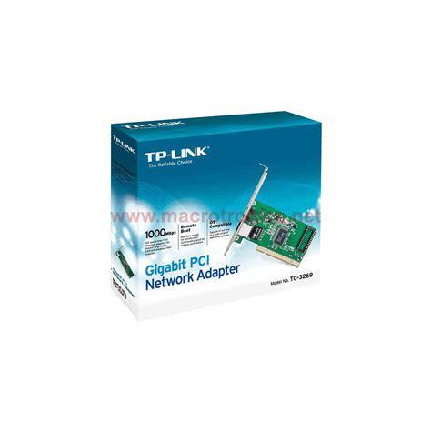 Tp Link Tg 3269 Gigabit Pci Network Adapter Lan Card tp link tg 3269 gigabit network adapter card pci powerlines macrotronics computers l retail
