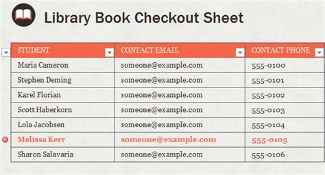 library checkout template library book checkout template
