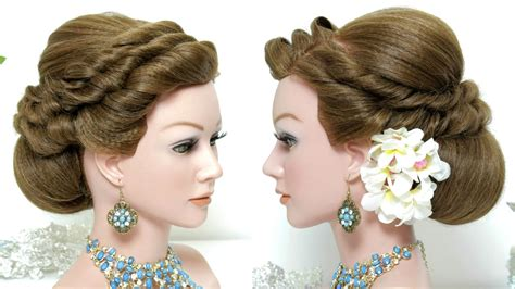 Bridal Hairstyles For Hair Tutorial by Bridal Hairstyle Wedding Updo For Hair Tutorial