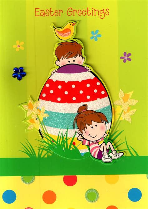 A Greeting An Advice A Question On Easter by Easter Greetings Easter Egg Childrens Card
