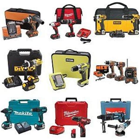 various power tools and cordless combo sets on sale at