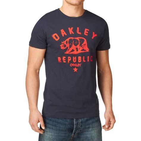 Tshirtkaost Shirt Oakley 1 Oakley Oakley Republic T Shirt Navy Blue Free Uk Delivery