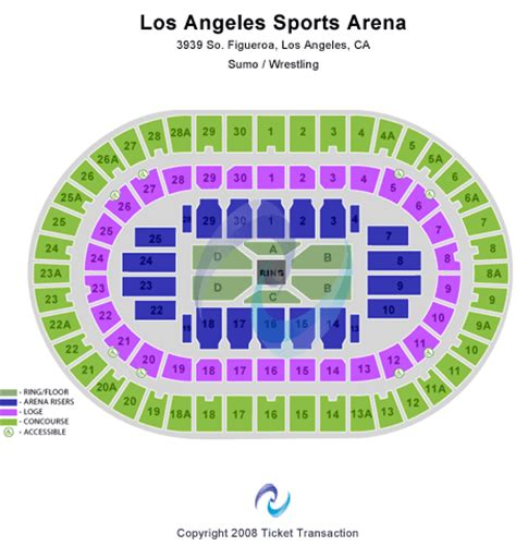 la sports arena seating chart los angeles sports arena seating chart