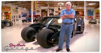 Jay Leno's Garage Explores The Dark Knights Tumbler Leno with the J 112
