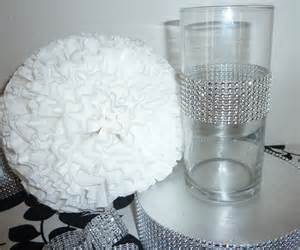 faux rhinestone cylinder vase bling by aprincesspractically