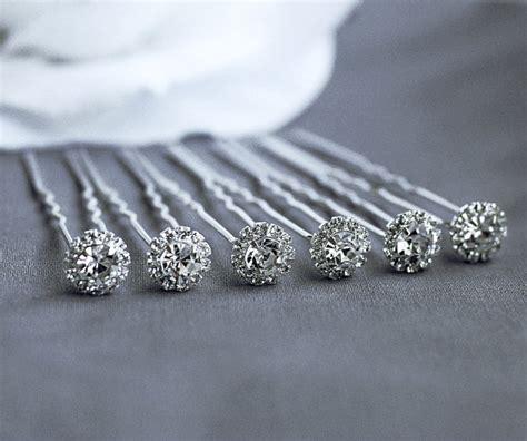 6 pcs rhinestone bridal pin wedding jewelry bobby