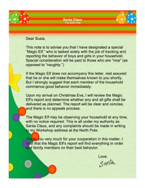 free printable letters from santa s elves magic elf letter