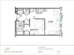 One Bedroom Home Floor Plans Floor Plans