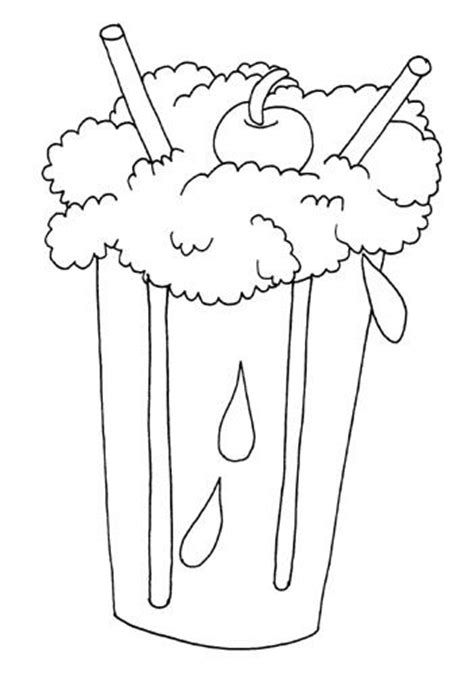 Ice Cream Soda Coloring Page | coloring pages ice cream pre k summer ice cream