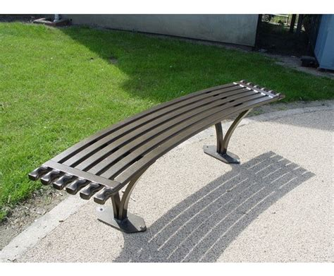 curved metal bench nathan curved and straight standard steel benches