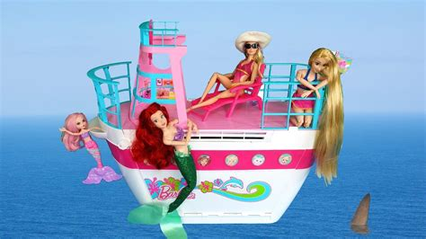 barbie ship videos barbie cruise ship toy unboxing setup باربي كروز سفينة