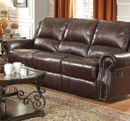 Brown Leather Recliner Sofas Coaster 650161 Brown Leather Reclining Sofa A Sofa Furniture Outlet Los Angeles Ca