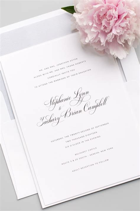 Wedding Font Serif by Delicate Elegance Wedding Invitations Belly Bands