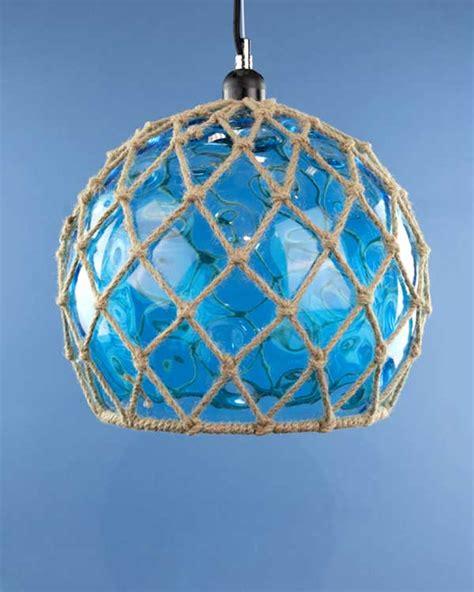 glass fishing float pendant light glass fish float hanging pendant light blue cheeky