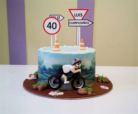 tarta ciclista para un 40 cumplea 209 os tartas fondant