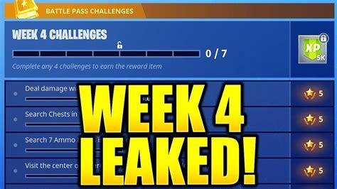 fortnite week 3 challenges fortnite season 5 week 4 challenges leaked week 3 all