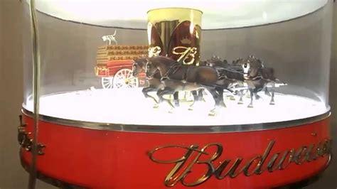 budweiser red light for sale budweiser beer spinning globe clydesdale carousel light