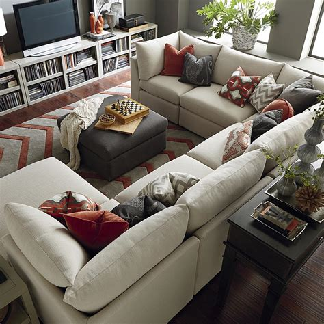 U Shaped With Recliner by Contemporary U Shaped Sectional Bassett Home Furnishings